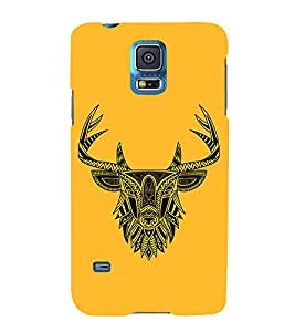 Indian Deer Graphics 3D Hard Polycarbonate Designer Back Case Cover for Samsung Galaxy S5 G900i :: Samsung Galaxy S5 i9600 :: Samsung Galaxy S5 G900F