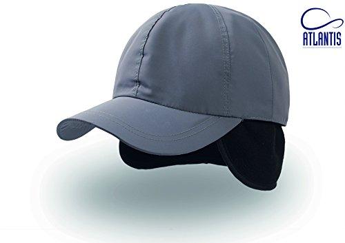 Mütze Kappe Cap Napapi Baseballcap mit Ohrenklappen Wintercap Baseballcap (One Size - grau)