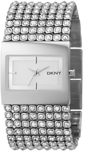 DKNY Women's NY4661 Crystal Accented Stainless Steel Watch