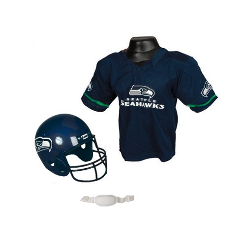 buy popular 630d9 21583 NFL Seattle Seahawks Replica Youth Helmet and Jersey Set ...