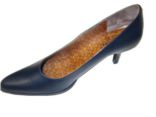 Coach  Coach Pump Shoes Heels Dark Blue Black Leather Size 6b