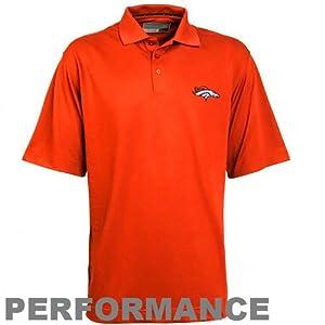 NFL Cutter & Buck Denver Broncos Championship Performance Polo - Orange by Cutter & Buck
