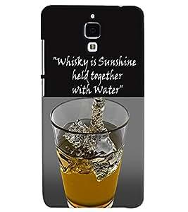 PrintVisa Quotes & Messages Whisky Sunshine 3D Hard Polycarbonate Designer Back Case Cover for Xiaomi Redmi Mi4
