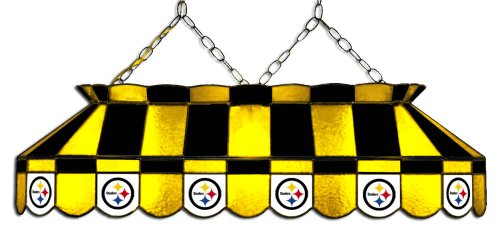 NFL Pittsburgh Steelers 40-Inch Rectangular Stained Glass Billiards Table Light at Amazon.com