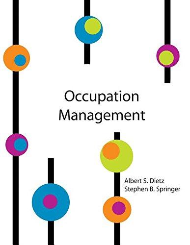 OCCUPATION MANAGEMENT HANDBOOK