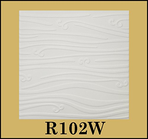 tin-look-glue-up-ceiling-tiles-20x20-styrofoam-extruded-polystyrene-r102w-lot-of-8
