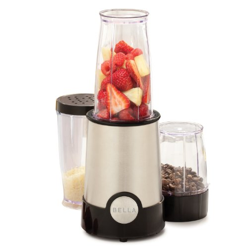 Sale!! BELLA 13586 12-Piece Rocket Blender, Stainless Steel and Black