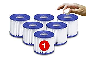 Type 1 Or I Bestway Pool Filter Cartridge Replacement 6 Pack Patio Lawn Garden