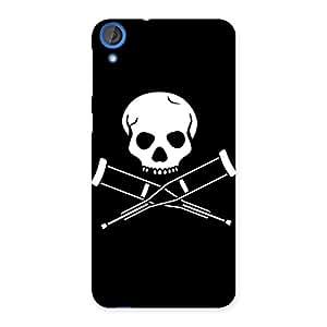 Delighted Danger Black Back Case Cover for HTC Desire 820s