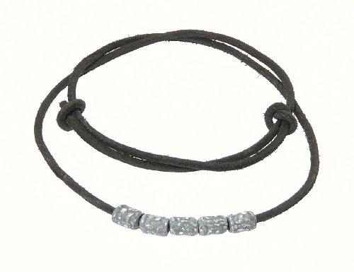 Neptune Giftware Mens Surf Surfer Black Leather Cord Necklace / Leather Choker / Leather Necklace With Metal Beads - 01