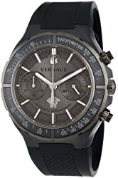 Versace Women's 26CCS7D455 S009 DV One Stainless Steel and Black Rubber Automatic Watch