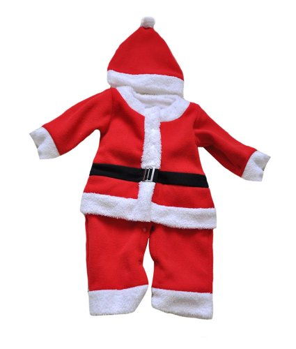 Santa Claus Xmas Christmas Hallween Baby Infant Toddler Red Costume Romper