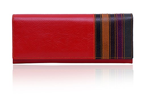 Yark-Genuine-Leather-Ladies-Wallet-Red