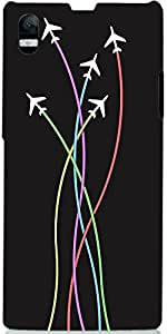 Snoogg Airplane Minimal Flying 2399 Case Cover For Sony Xperia L 39