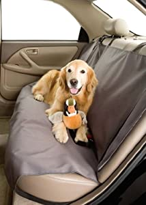 Dog Car Seat Cover for Pets- Rear Bench (56W) Color Slate by DuraGear car seat covers for Pets