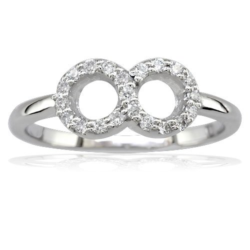 Petite Diamond Infinity Ring 14k White Gold