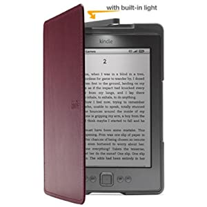 Amazon Kindle Lighted Leather Cover, Wine Purple
