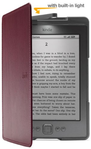 Amazon Kindle Lighted Leather Cover, Wine Purple (does not fit Kindle Paperwhite, Touch, or Keyboard)