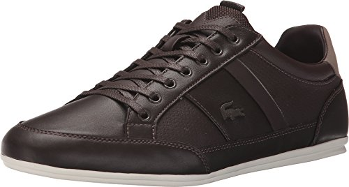 Lacoste Men's Chaymon Prm Fashion Sneaker, Brown, 8.5 M US