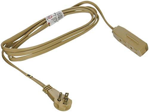 slimline 2254 flat plug extension cord 3 wire beige 8 foot. Black Bedroom Furniture Sets. Home Design Ideas
