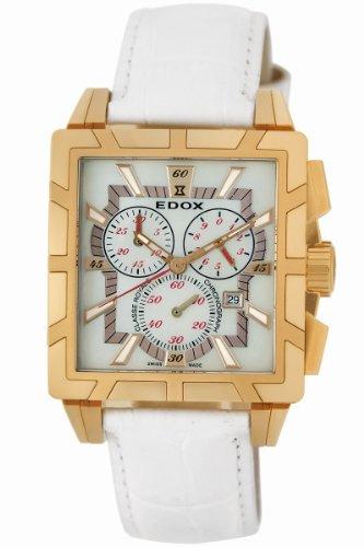 Edox Women's 01924 37R NAIR Classe Royale Rectangular Chronograph Watch