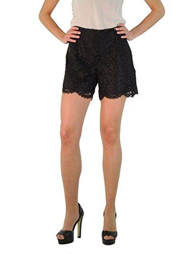 Liu Jo shorts donna pantaloni corti in pizzo floreale C65084J7597 (44, NERO)