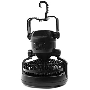 Whetstone Deluxe Camping Combo, Lantern and Fan, Black