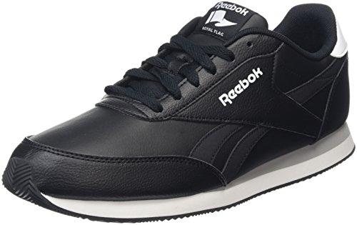Reebok Royal Classic Jogger - Scarpe Running Uomo, Nero (Black/White/Flat Grey), 42.5 EU