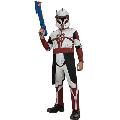 Clone Trooper Commander Fox Child Halloween Costume Size 12-14 Large