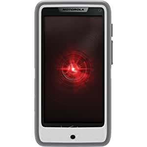 OtterBox Defender Series Case for Motorola Droid RAZRM - Retail Packaging - Gray/White