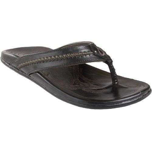 Olukai Mea Ola Sandal - Men'S Black/Black 12 front-1071689