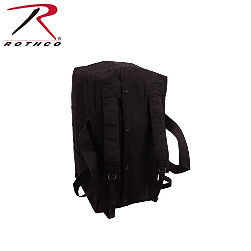 Rothco Canvas Mossad Type Tactical Cargo Bag, Black (Mossad Type Tactical Cargo Bag compare prices)