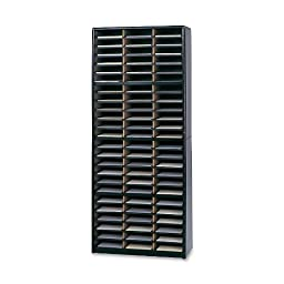 Safco Products 7131BL Value Sorter Literature Organizer, 72 Compartment, Black