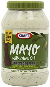 Kraft Mayo with Olive Oil and Cracked Pepper, 30-Ounce (Pack of 3)