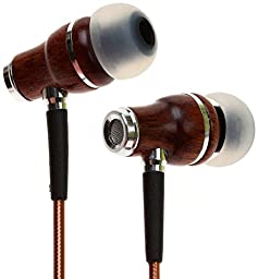 Symphonized NRG 2.0 Premium Genuine Wood In-ear Noise-isolating Headphones with Innovative Shield Technology Cable and Mic (Brown)