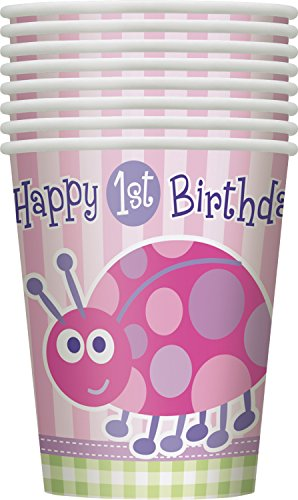 9oz Ladybug First Birthday Party Cups, 8ct - 1