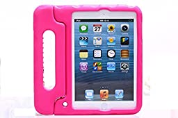 [D.K-Tech]Cartoon iPad mini 1/2/3 Case{Best Christmas Gift},Kids Series Light Weight Super Protection Convertable Stand Cover Case for Apple New iPad Mini 1&2&3 7.9 inch for Children & Free Gift 1*Stylus Pen Random Color (Mini HL Hot Pink)