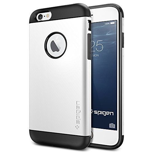 iPhone 6 ケース, Spigen® [ スリム+保護力+個性 ] Apple iPhone 4.7 (2014) スリム アーマー The New iPhone アイフォン6 (国内正規品) (シマリー・ホワイト SGP10957)