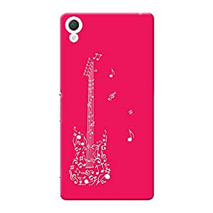 INKIF Music Guitar Abstarct Designer Case Printed Mobile Back Cover for Sony Xperia Z2 (Pink )