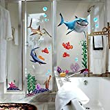 New FINDING NEMO Sharks Wall Stickers REMOVABLE Art Paper Bathroom Childs Room Decor