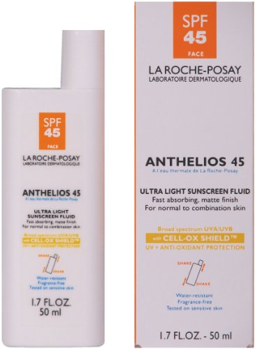 La Roche-Posay Anthelios 45 Ultra Light Sunscreen Fluid for Face with SPF 45, 1.7-Ounce