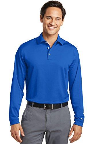 Nike Golf Long Sleeve Dri-FIT Stretch Tech Polo, Blue Sapphire, X-Large