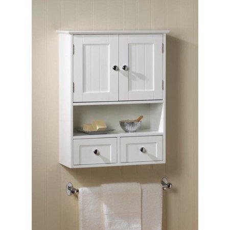 Zingz & Thingz Nantucket 2 Door Wall Cabinet Distressed White 2 Door Cabinet