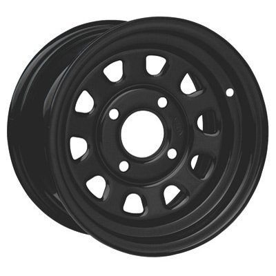 4/4 ITP Steel Wheel 12x7 2.0 + 5.0 Black POLARIS