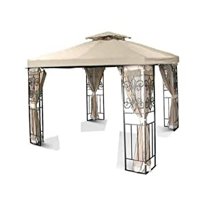 10x10 Replacement Gazebo Canopy Top - Beige from MTN-Outdoor
