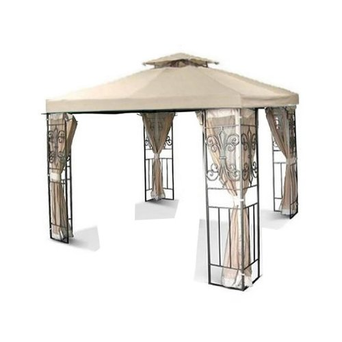 New 12'x12' 2-Tiered Replacement Gazebo Canopy Top - Beige