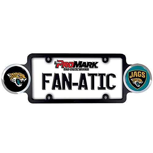 Jacksonville Jaguars Carbon Small Over Small Metal Acrylic Cut License Plate Frame