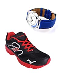 Elligator Sports Shoes With Lotto Blue Watch - B00WSA97KY