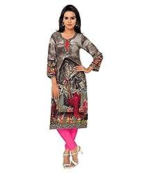 Shubh Women's Crepe Kurti (Shubh_196_Multi-Coloured_Free Size)