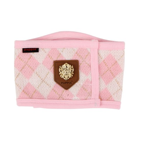Puppia Authentic Argyle Mode Manner Band, Large, Pink front-1014695